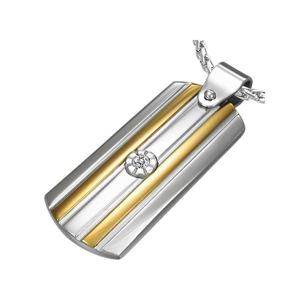 Vedhæng i stål - 35mm - u/kæde