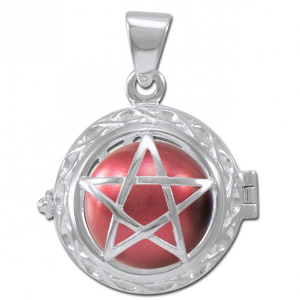 Engle kalder / Engleklokke med Pentagram - u/kæde
