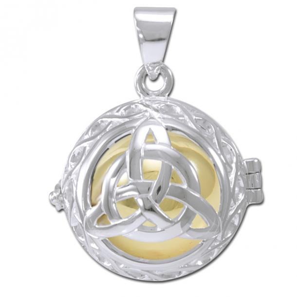 Engle kalder / Engleklokke med Treenighedssymbol - u/kæde