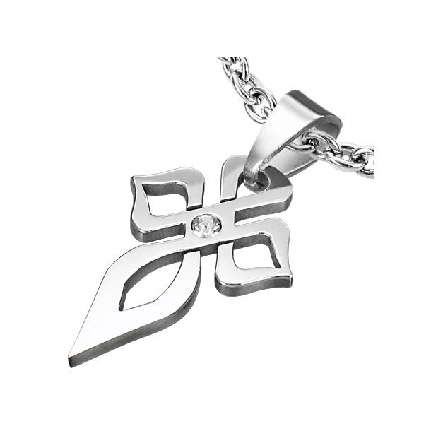 Kors Vedhæng i stål - 37mm - u/kæde