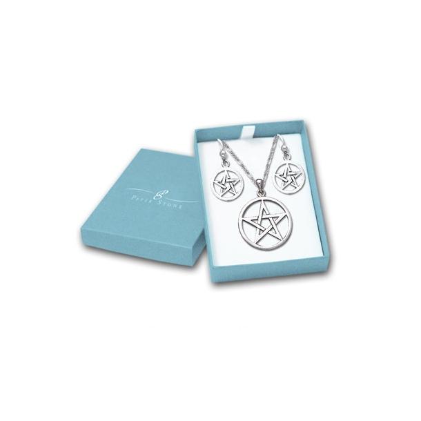Smykkesæt Pentagrammet m/kæde