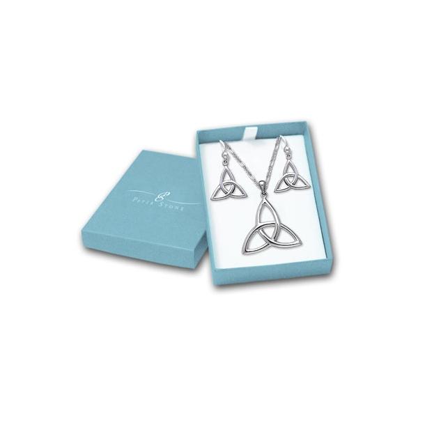 Smykkesæt Triquetra - Treenighedssymbolet - m/kæde