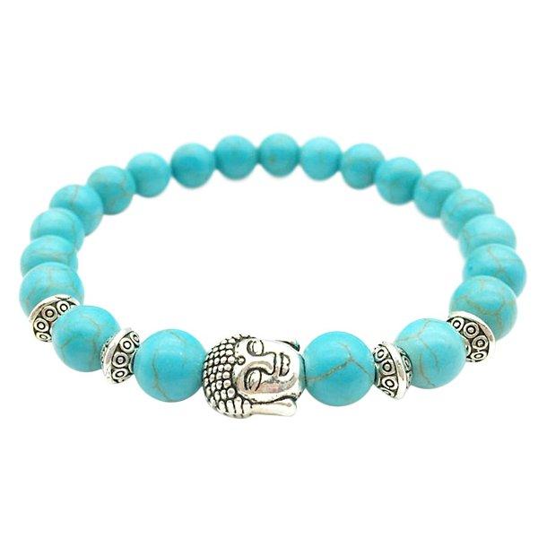 Buddha armbånd - Lykkearmbånd - Turkis