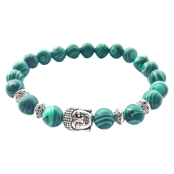 Buddha armbånd - Lykkearmbånd - Malakit