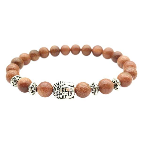 Buddha armbånd - Lykkearmbånd - Guldsten