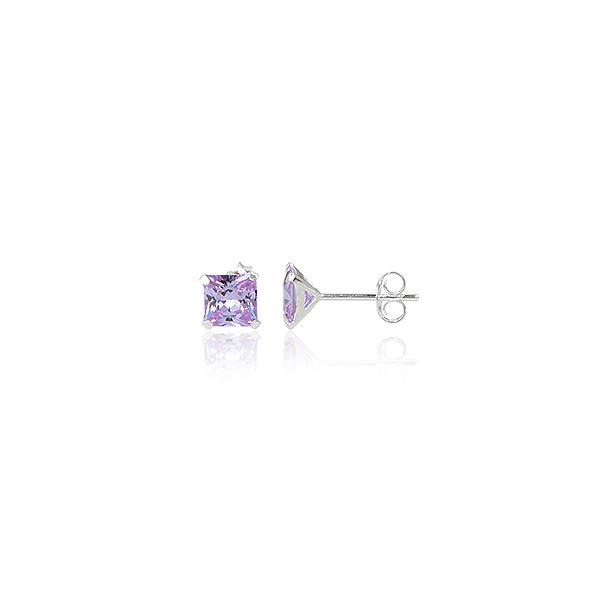 Ørestikker med Lavendel Zirkonia - Ø4mm - pr par