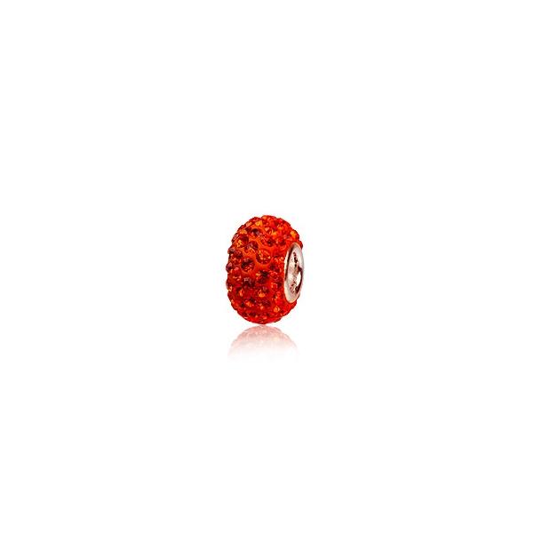 Charm led med swarovski krystaller