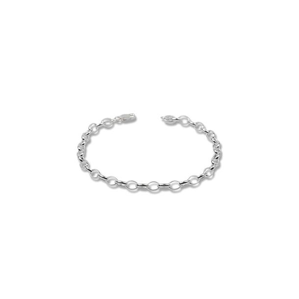 Sølvarmbånd - 16cm x 5mm