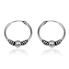 Sølv øreringe / hoops - Ø17mm - pr sæt