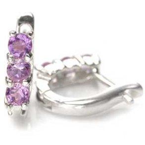f838fe0f16b Øreringe med Safir - 24mm - pr par - Øreringe med ædelsten - smykker ...