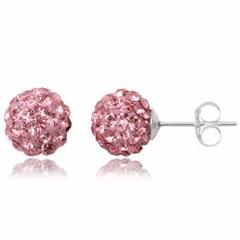 Ørestikker med Swarovski krystaller - Ø8mm - pr par