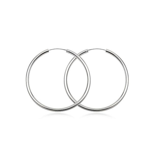 Sølv øreringe - Ø22mm - pr sæt