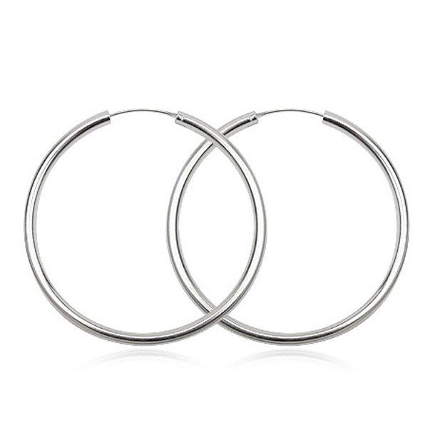 Sølv øreringe - Ø40mm - pr sæt