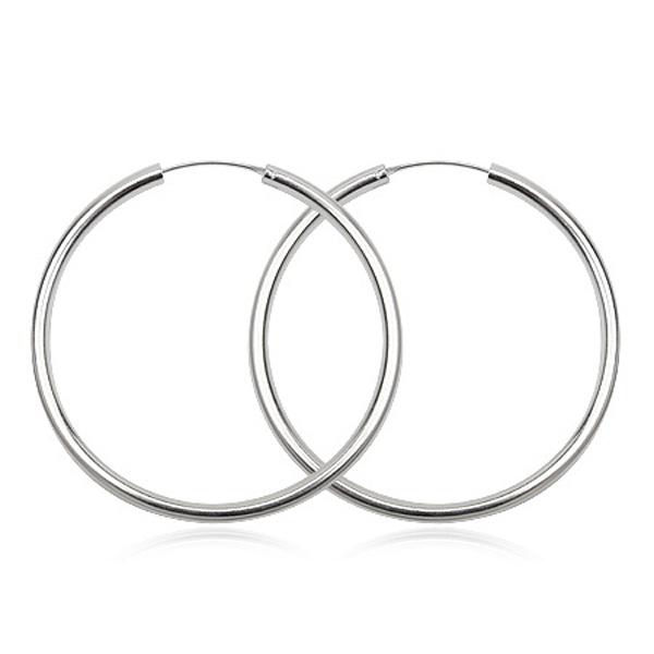 Sølv øreringe - Ø35mm - pr sæt