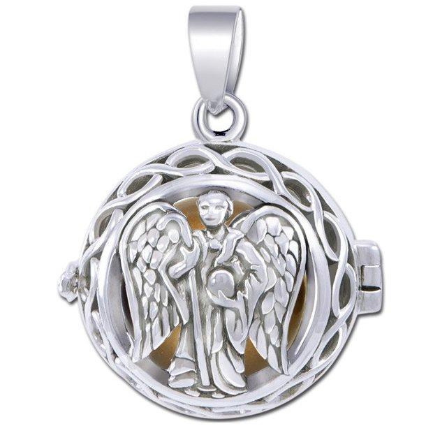 Engle kalder / Engleklokke med Ærkeenglen Raphael - u/kæde