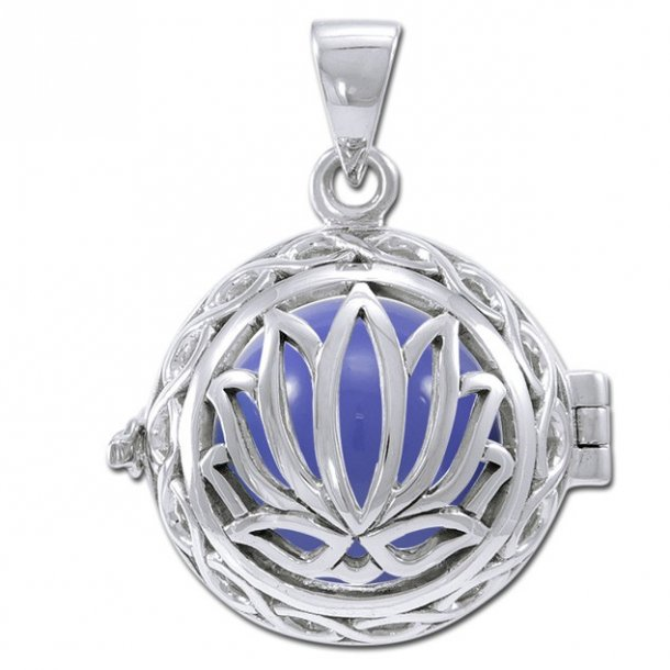 Engle kalder / Engleklokke med Lotus blomst - u/kæde